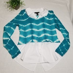 Inc Size XL Tie-Dyed Layered Sweater EE59
